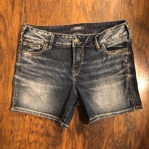 Silver Elyse Jean Shorts